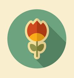 Flower flat icon vector