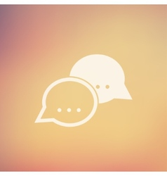 Two speech bubbles in flat style icon vector image vector image