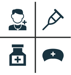 drug icons set collection of cap stand drug vector image vector image