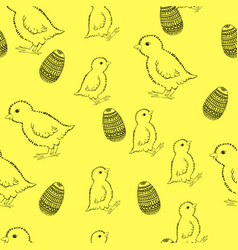 easter pattern drawing by vector image