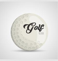 golf club ball icon vector image vector image