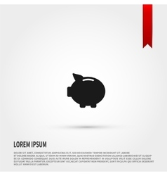 Piggy bank icon design vector image