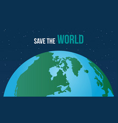 save the world style design vector image