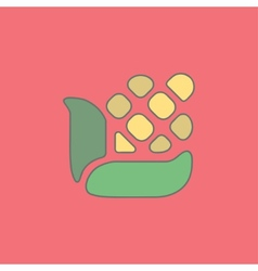 Stylized corn flat icon isolated on vector image