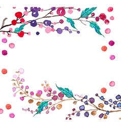 Watercolor flowers background vector image vector image