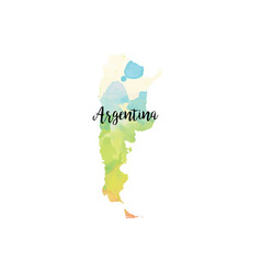 Abstract argentina map vector