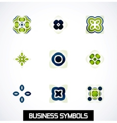 Colorful geometric business symbols Icon set vector image vector image