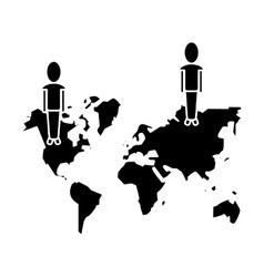community world social media network pictogram vector image