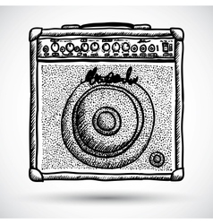Guitar Combo Amplifier vector image