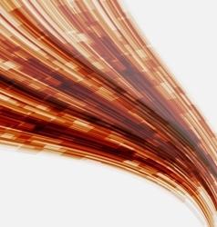 Orange wave element for design vector image