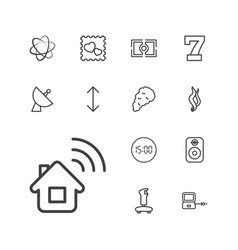 13 digital icons vector