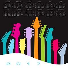2017 calendar Guitar head Landscape vector image