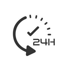 24 hour service icon vector