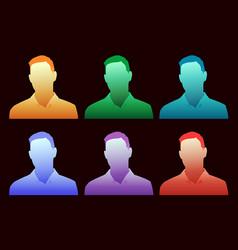 A colorful array choices for generic avatar vector