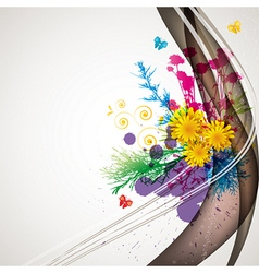 Abstract flora background 1 vector