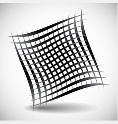 Abstract wavy grid mesh of curved lines with vector