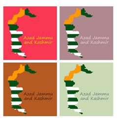 Azad kashmir province of pakistan islamic vector