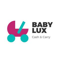 baby goods logo vector image