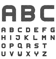 Black checkered font alphabet letters vector