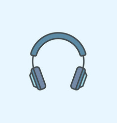 Blue headphone icon headphone concept vector