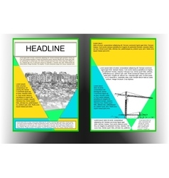 brochure template with cityscape color vector image