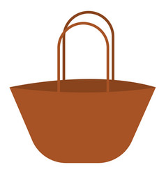 brown shopping bag or color vector image