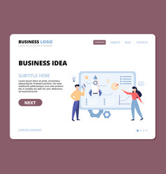 business idea website landing page template vector image