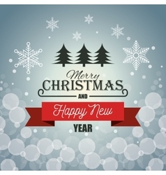 card merry christmas new year red banner graphic vector image