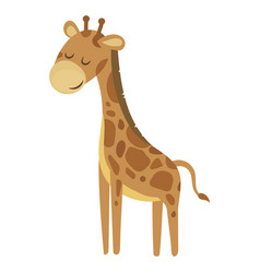 cartoon giraffe a cute vector image