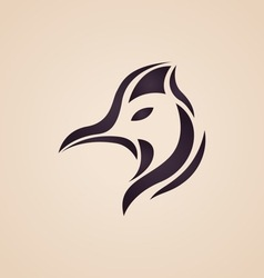 Cassowary logo vector image