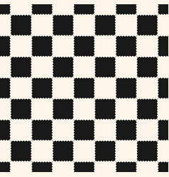 Checkered geometric seamless pattern vector