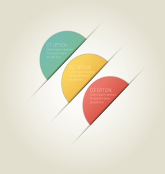 Circle Infographic Background with Sample Text vector