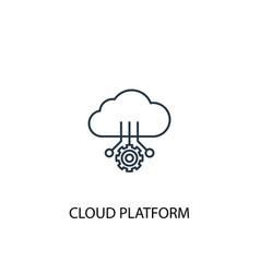 cloud platform concept line icon simple element vector image