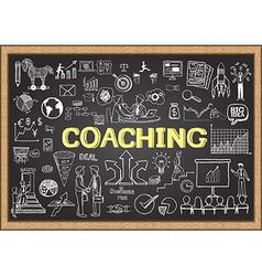 coaching on chalkboard vector image