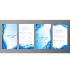 collection set blue abstract covers vector image