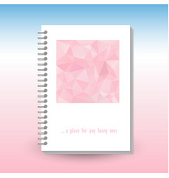 Cover of diary or notebook with ring spiral binder vector