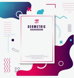 Creative template rectangle frame border blue vector