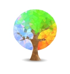 Crystal tree seasons vector