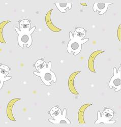 cute sleeping bears vector image