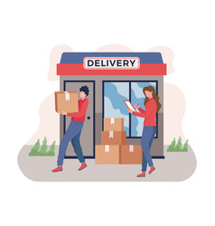 Delivery service concept vector