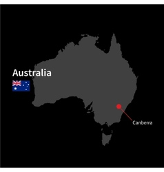 Detailed map of Australia and capital city vector image