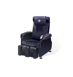 Detailed massage chair massager for relax vector