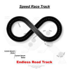 endless white road background vector image