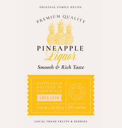 Family recipe pineapples liquor acohol label vector