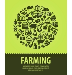 Farming logo design template farm or vector