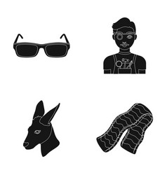 Fashion medicine and or web icon in black style vector
