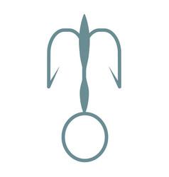 fishing hook isolated vector image