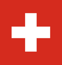 flag of switzerland national symbol of the vector image