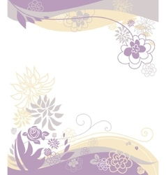 Floral pastel background vector