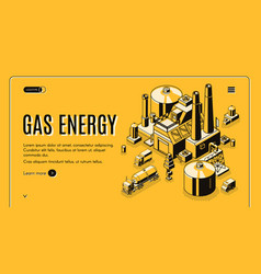 Gas energy industry company website vector